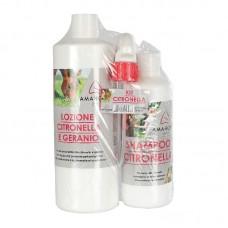 AMAHORSE komplet sprej + šampon proti mrčesu CITRONELLA