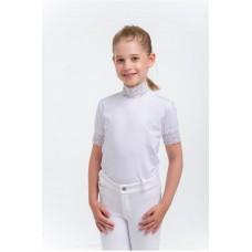 Otroška tekmovalna majica - LACY KIDS - kratek rokav, Technical Equestrian Apparel