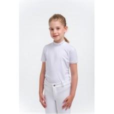 Otroška tekmovalna majica - CRYSTAL KIDS - kratek rokav, Technical Equestrian Apparel