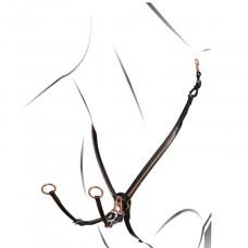 Angleška oprsnica Equestro Clincher Rosegold