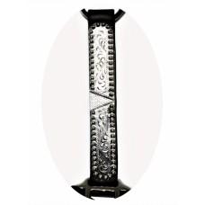 Usnjena oglavka PREMIUM SHOW HALTER z verižico