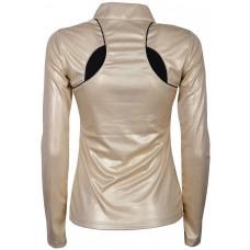 Ženska tehnična majica z dolgimi rokaviv EQS CHAMPAGNE