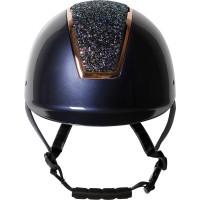 Jahalna čelada REGAL SPARKLE modra z rosegold