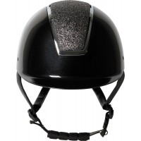 Jahalna čelada REGAL SPARKLE črna s srebrnim okvirjem