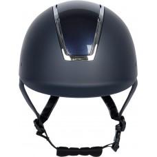 Jahalna čelada REGAL GLOSSY, modra s srebrnim okvirjem