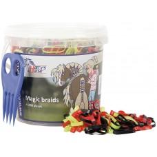 Elastike za grivo MAGIC BRAIDS, 1500 kom
