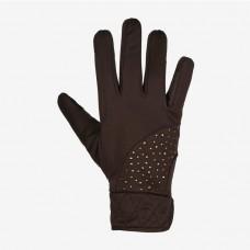 Jahalne rokavice zimske HORZE CRYSTAL RJAVE