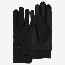 Otroške jahalne rokavice zimske HORZE CRYSTAL ČRNE