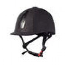 Horze Triton Galaxy Helmet, jahalna čelada BLACK SILVER