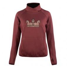 HORZE ženski pulover EMILIA, bordo/rjav