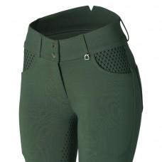 HORZE Limited Edition ženske jahalne hlače EVA - zelene