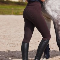 HORZE Limited Edition ženske jahalne hlače EVA - rjave