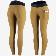 HORZE ženske jahalne hlače ABRIELLE - mustard