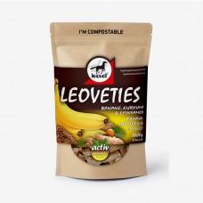 Leovet® Leoveties piškotki za konje BANANA KURKUMA LANENA SEMENA, 1kg