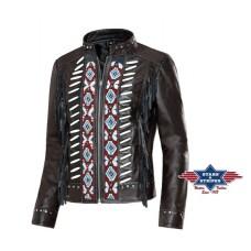 Usnjena jakna s franži ACOMA