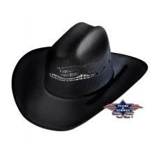 Western klobuk ASHTON BLACK - slamnik