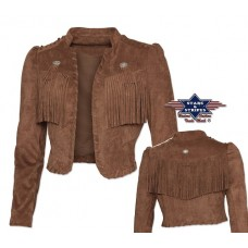 Kratka jakna s franži CARMEN