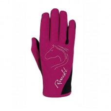 Otroške jahalne rokavice Roeckl TRYON, jagodno roza