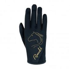 Otroške jahalne rokavice Roeckl TRYON, temno modre