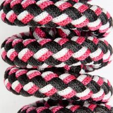 Lonžirni trak/povodec PFIFF WOVEN LINE - črn roza