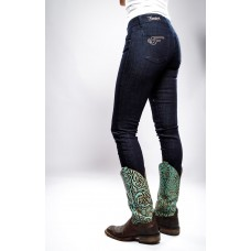 Ranchgirls - Ženske kavbojke OSWSA modelBROOKE temen jeans