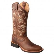 Ženski western škornji Twisted X Ruff Stock kvadratni